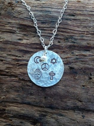 World peace necklace linda winkler jewelry designs world peace necklace aloadofball Image collections